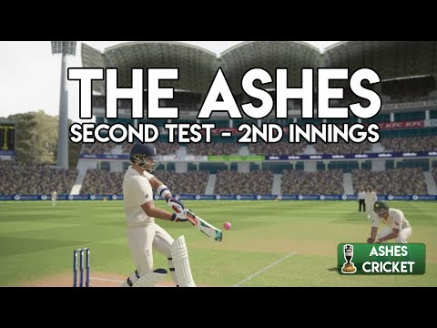 THE SWINGING PINK BALL - Second Test - Second Innings (Ashes Cricket Game)