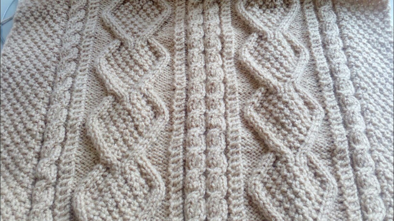 8f5fe0df4 suéter cardigan tejido en dos agujas para hombre talla ML - video 1 by  crónicas del tejido