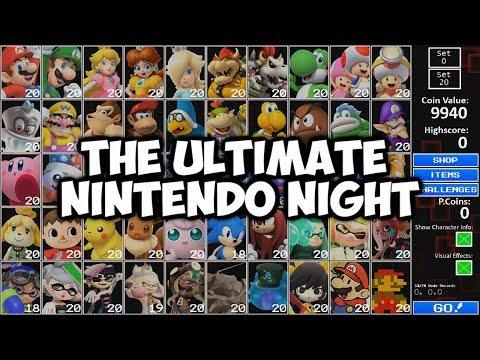 MARIO, LUIGI, YOSHI, PRINCESS, THEY'RE ALL HERE | THE ULTIMATE NINTENDO NIGHT - ALL STAR CHALLENGE