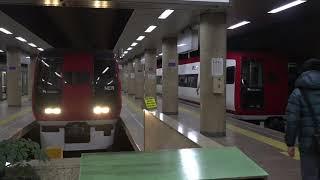 善光寺でのイベント開催で、下り臨時特急は車内で飲食の販売も、長野電鉄下り臨時A特急2本。(臨時スノーモンキー乗車)