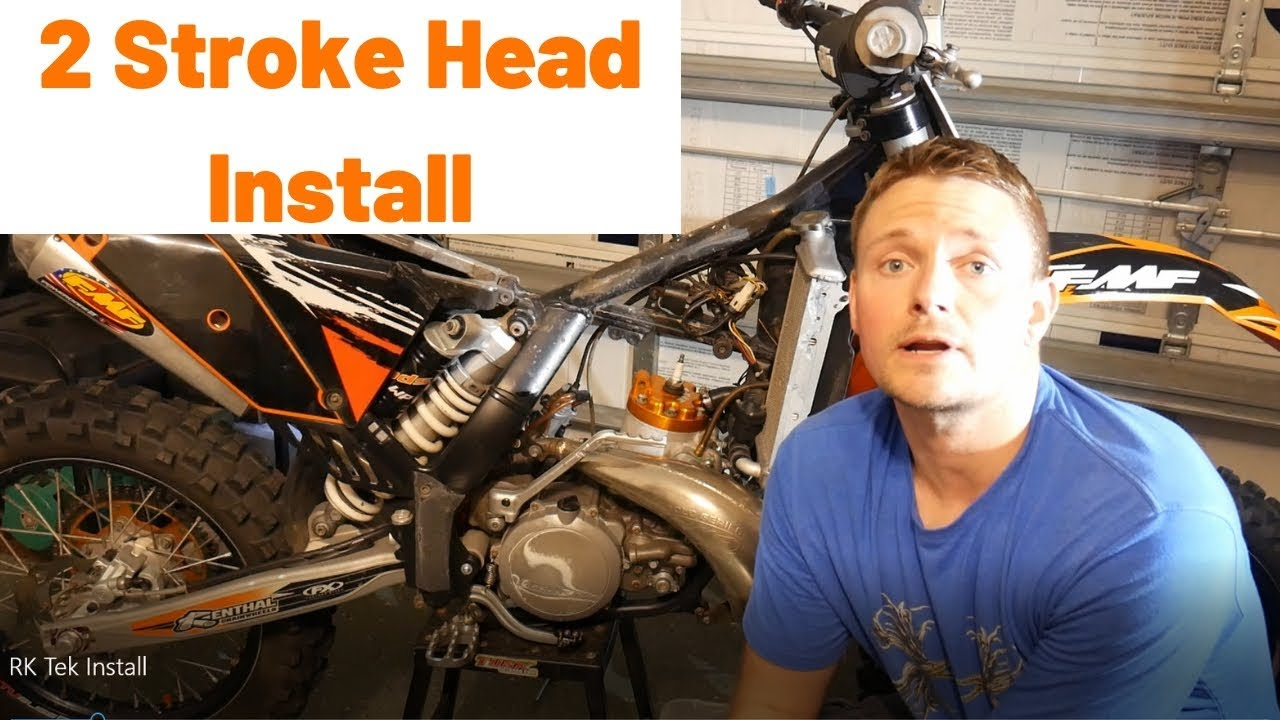 Rk Tek head install on KTM 300 XCW | 300 xcw Head removal tutorial