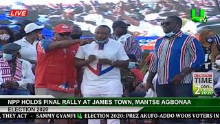 NPP Holds Final Rally At James Town, Mantse Agbonaa