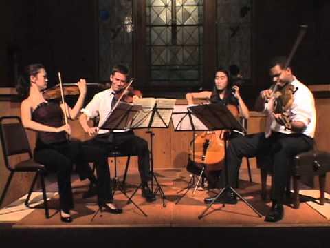 Edvard Grieg  String Quartet in G minor, Opus 27, Center Stage Strings Music Festival 2011