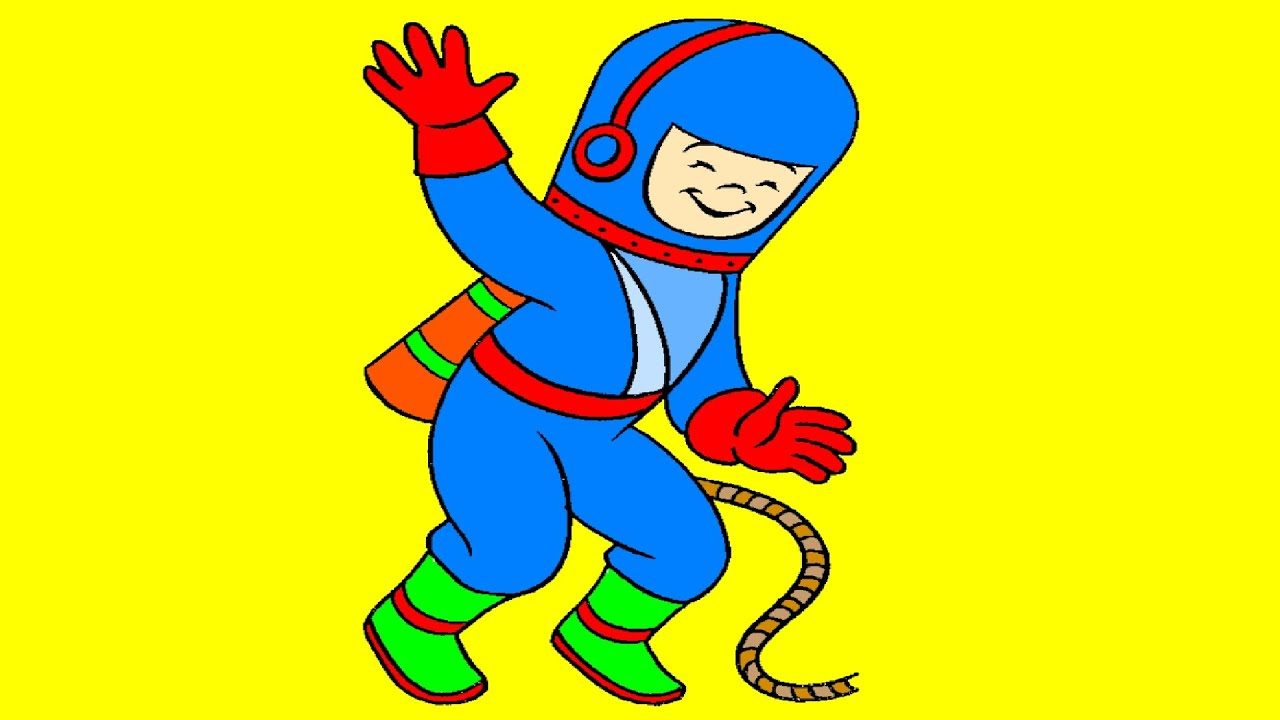 Astronaut Coloring Page - YouTube