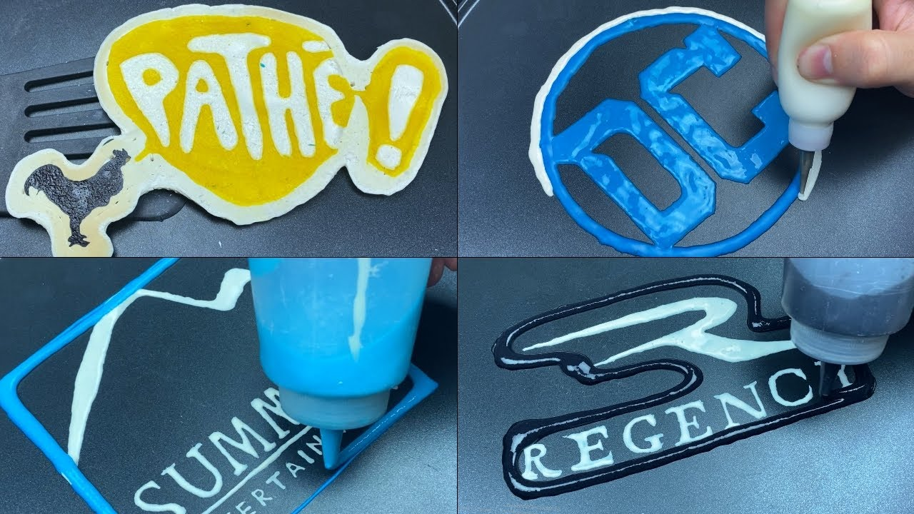 Film Company Logos Pancake Art - DC, Pathe, Summit Entertainment, Regency Enterprises