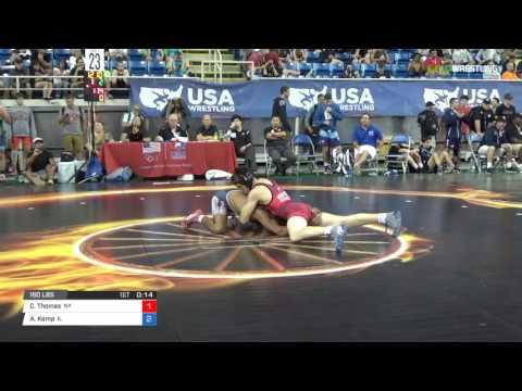 Junior FS 160 Cons 32-1 - Connor Thomas (NY) vs. Adam Kemp (IL)