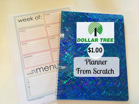 DOLLAR TREE Planner From Scratch | BASICS
