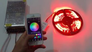 bluetooth wifi music rgbw led controller for color change rgb flexible led strip lights