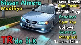 Nissan Almera Body kit -Tampon Ekleri - Spoiler - Gösterge - Coilover N16 special modify Tuning