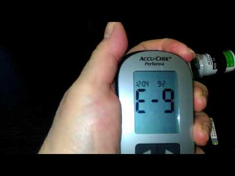 Глюкометр Accu-Chek Performa , как правильно снять показания сахара в крови