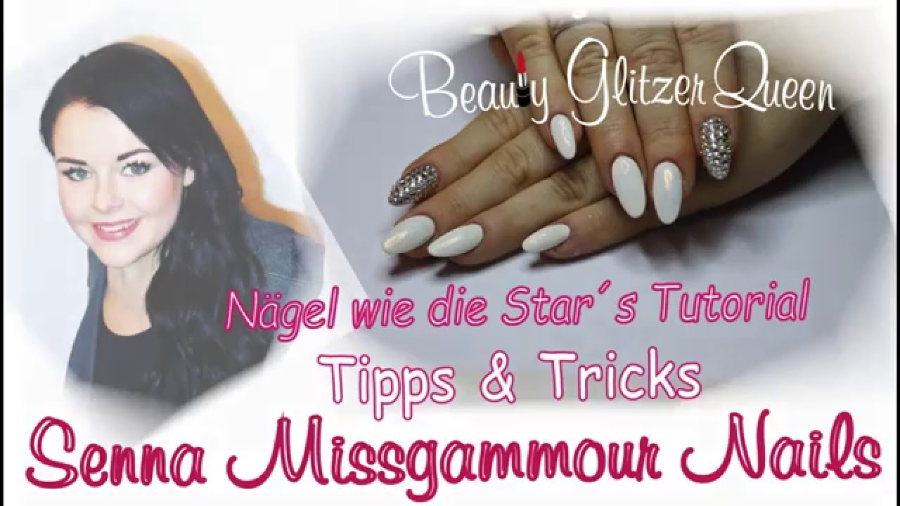 senna gammour n gel wie die stars missgammour anleitung nailart swarovski youtube. Black Bedroom Furniture Sets. Home Design Ideas