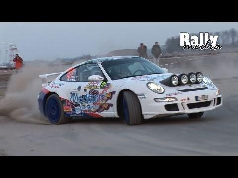 Porsche 997 Gt3 Rally Roundabout Drift And Very Loud Sound