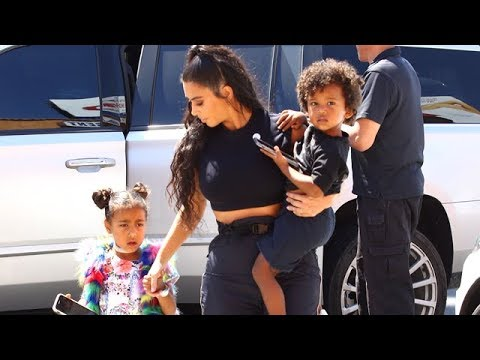 Supermom Kim Kardashian With Her Child Stars Saint and North West