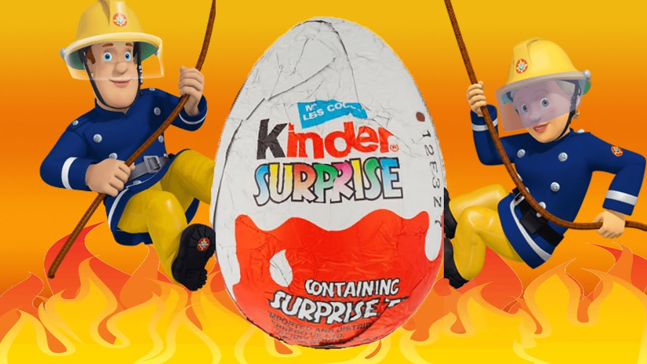 FIREMAN SAM - Kinder Eggs Surprise! Toys Collection - New Kids TV