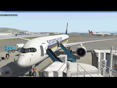 X-Plane 11 | FlightFactor A350-9 | San Francisco to Singapore