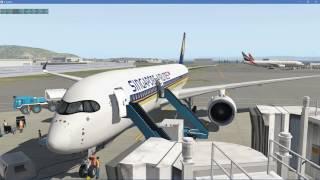 X-Plane 11 | FlightFactor A350-9 | San Francisco to Singapore
