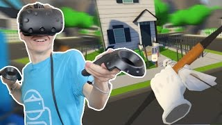 PAPERBOY GAME IN VIRTUAL REALITY!  | Archery VR (HTC Vive Gameplay)