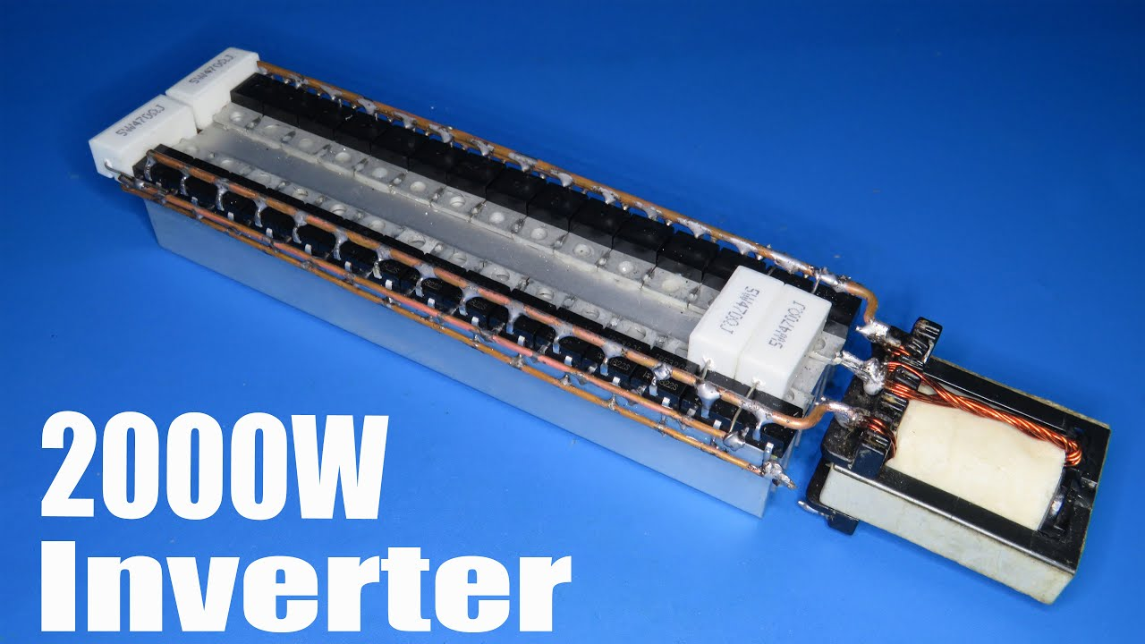 How to make 2000W inverter using 30 Mosfets IRF3205 and small transformer