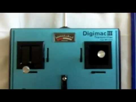 RC MACGREGOR DIGIMAC III RADIO CONTROL TRANSMITTER IN ORIGINAL BOX NEVER  USED