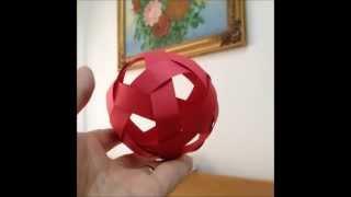Simple Soccer Ball Paper Weaving