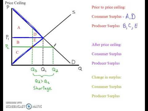 Price Ceiling Surplus And DWL