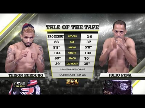 2015 Fight of the Year: Julio Pena Overcomes Knockdowns, Chops Down Yeison Berdugo at Lion Fight 24