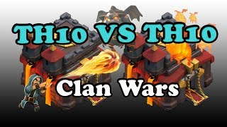 TH10 vs TH10 attacks in Clan wars with Animaniacs. How to crush Single Target Inferno Towers