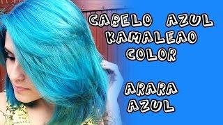 Cabelo Azul com Kamaleão Color ♥ ARARA AZUL ♥