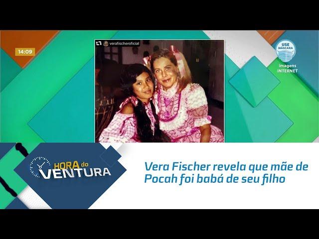 Vera Fischer revela que mãe de Pocah foi babá de seu filho e mostra fotos com a cantora