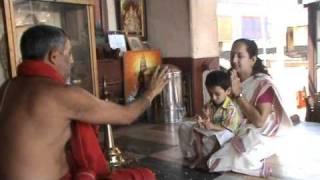 Vidyarambham in Mookambika Temple, Kollur