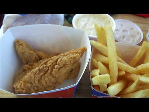 Dairy Queen 3 piece chicken tenders 5 buck lunch with GRAVY complete
