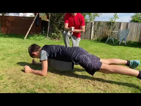 Youth Fitness Testing | Plank to Press Up test | Upper Body Strength Endurance