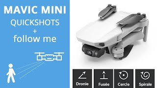 MAVIC MINI : QUICKSHOTS et test de SUIVI en TRACKING