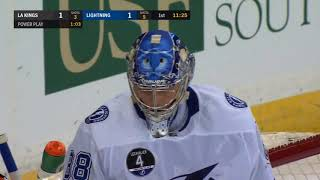 Tampa Bay: Andrei Vasilevskiy Behind The Back Save