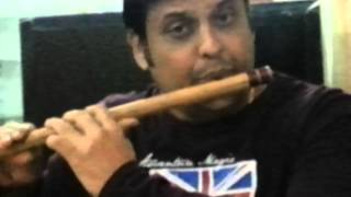 sj prasanna playing kannada filmsong nammura mandara hoove on flute.