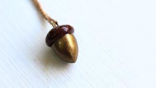 Diy: Acorn Necklace Polymer Clay Tutorial