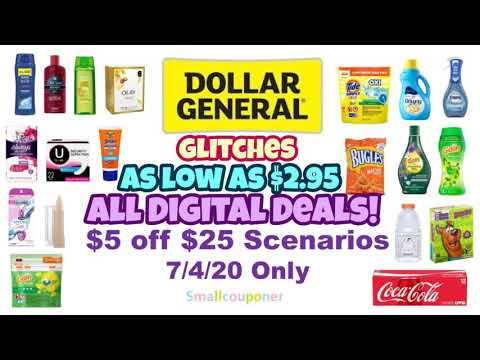 Dollar General $5 Off $25 Scenarios 7/4/20! All Digital Deals!