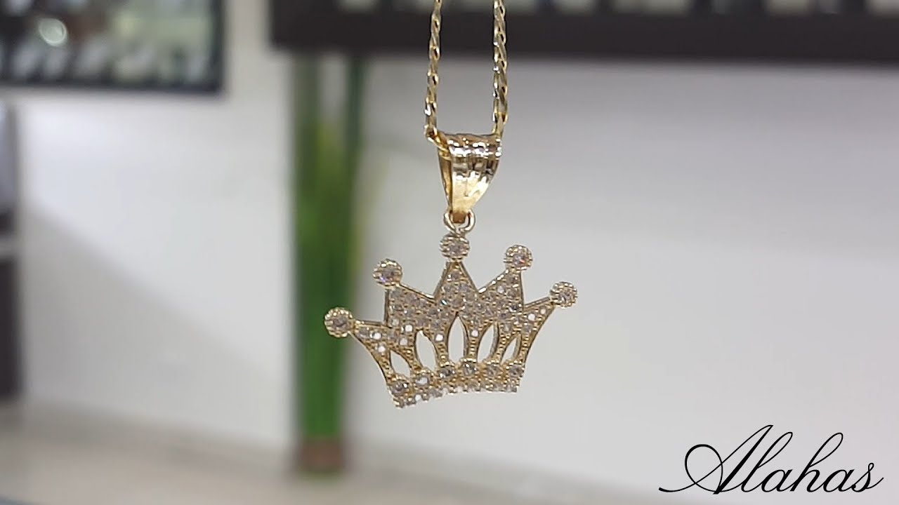 16fe6ef73756 14k Gold crown pendant and ring