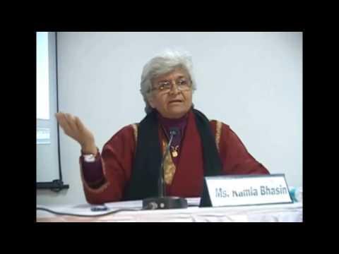 Kamla Bhasin Explains Feminism in Hindi/Urdu and English to students and activists.
