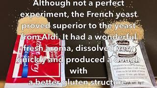 French Yeast vs  Aldi Yeast
