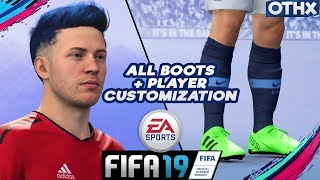 FIFA 19 | All Boots + Secret Boots and Create Player Customization | Be a Pro | @Onnethox