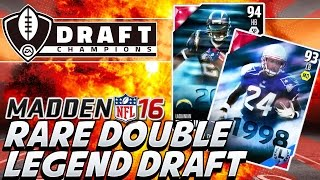 Madden 16 DOUBLE LEGENDS PICKS In Draft Champions Tomlinson & Ty Law