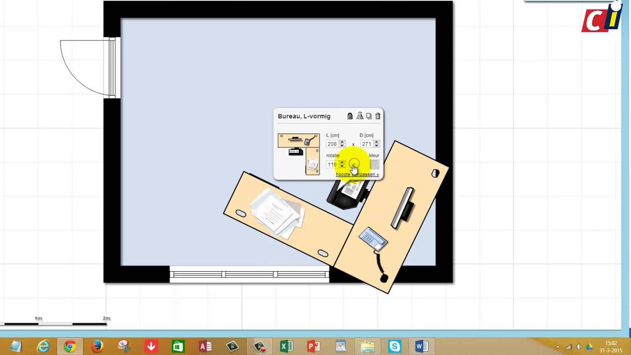 Plattegronden maken met Floorplanner 2: Inrichten - YouTube