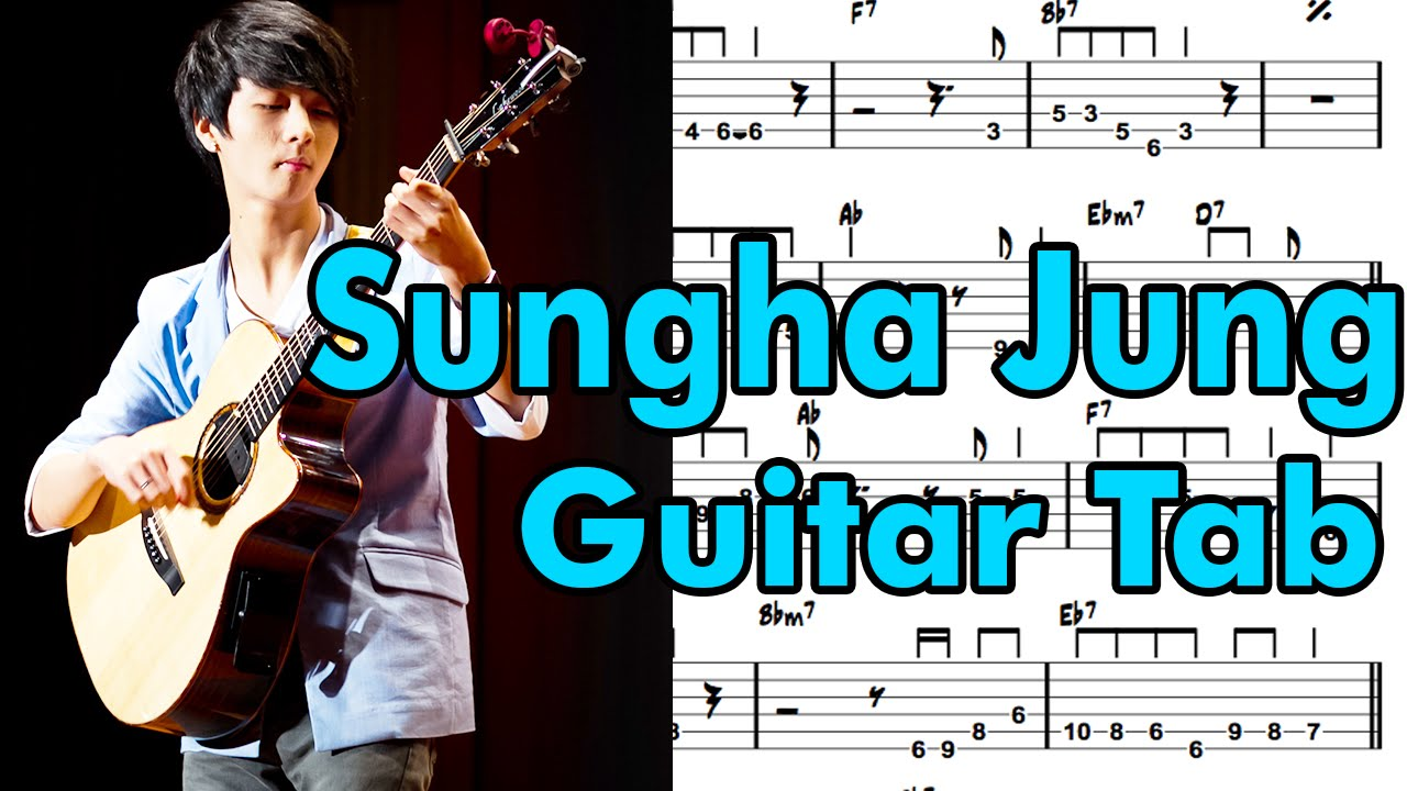 (Sungha Jung)Learn How to Play Photograph Fingerstyle Acoustic Guitar Lesson TABS(ed sheeran ...