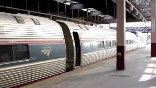Amtrak & NJ Transit at Newark Penn Station with new ALP-46A No. 4662