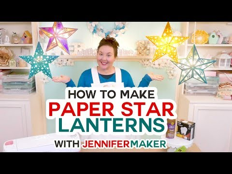 Paper Star Lanterns with Cut-Outs and Snowflakes!