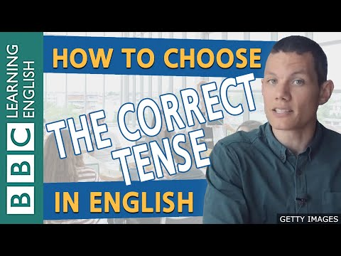 BBC Masterclass: Tense and Aspect of English verbs