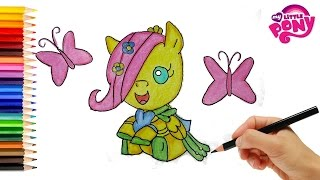 My Little Pony Coloring Book Fluttershy. How to Draw Fluttershy Baby