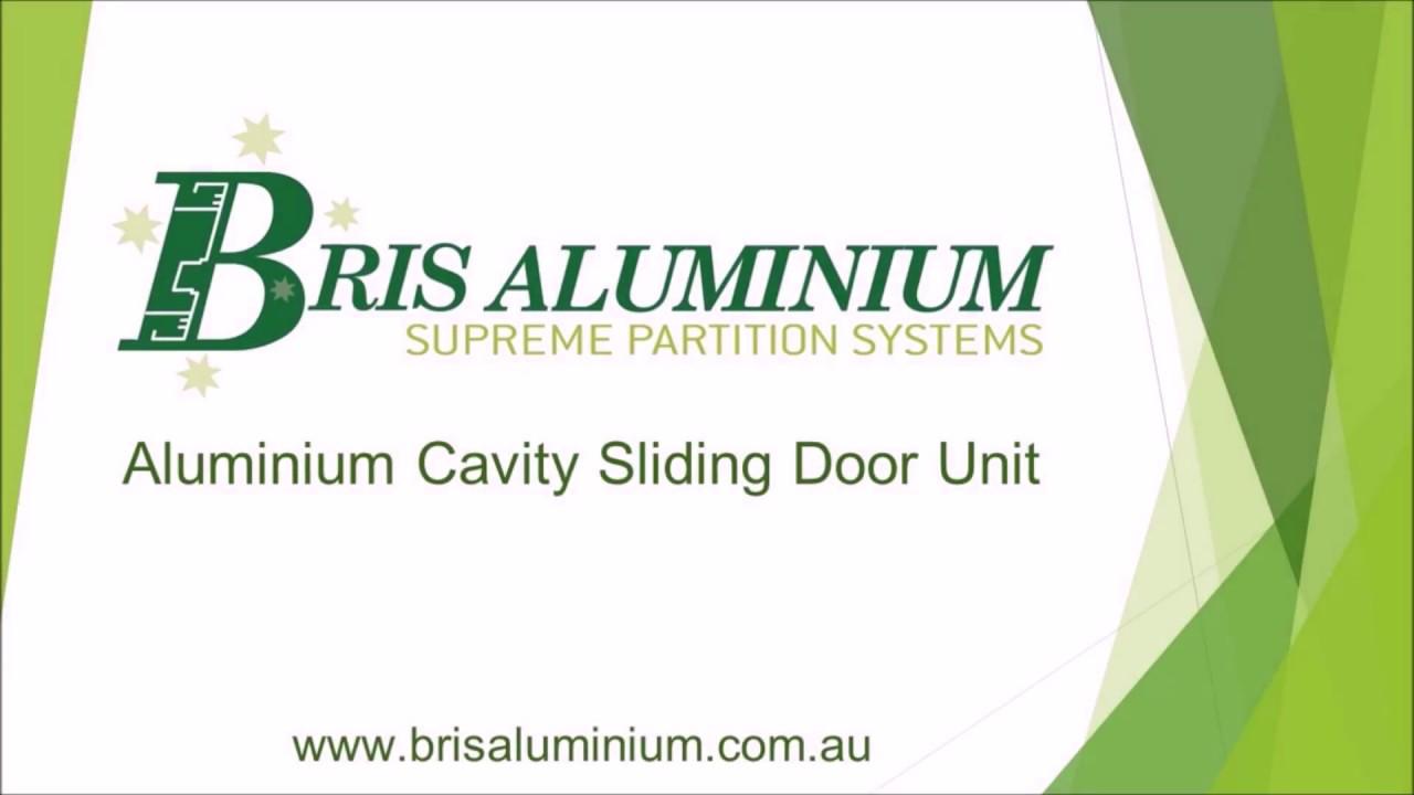 Cavity Door Slider - Bris Aluminium