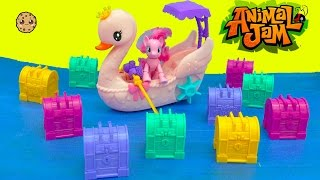 Animal Jam Game Code Exclusive Surprise Treasure Chest Blind Bags with MLP Pinkie Pie Boat